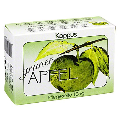 Grüner Apfel Seife Kappus 125g | INKL DDR Geschenkkarte | Ossi Artikel | Ideal für jedes DDR Geschenkset | DDR Traditionsprodukt und Ossi Kultprodukt | Ossi Produkte