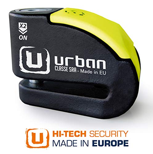 Urban Security UR10 Candado Antirrobo Moto Disco Alarma 120db +Warning, A+, Doble...