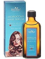 Belle Azul Moroccan Hair Serum 100 Mililiter Con Aceite De Argán Orgánico, Protege Nutre y Acondiciona, Para Todo Tipo De Cabello, No Graso