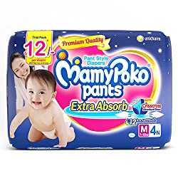 MamyPoko Pants Medium Size Diapers (4 Count)