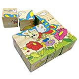 51DOZkwu7aL. SL160  Rolimate Preschool Educational Wooden Cube Block Jigsaw Puzzles   Spider Grasshopper Ladybirds Butterfly Snails Bee, Birthday Gift Toys for age 3 4 5 Years Old Toddlers Kids Baby Children Boys GirlsUK best buy   Reviews   Price
