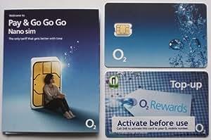 Carte SIM prépayée O2 Nano Sim pour le iPhone 5 / 5S / 5C (Import Royaume Uni)