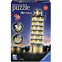 Ravensburger Italy 12515 - Torre di Pisa Puzzle, 3D Building, Night Edition