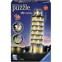 Ravensburger 12515 - 3D Puzzle Schiefer Turm bei Nacht