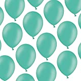 100 Luftballons - 23 cm - Pastell Aquamarine - Formstabil - Kleenes Traumhandel®