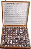 #7: Rocksmins Collection of 100 Rocks & Minerals for Education in Woodne Box
