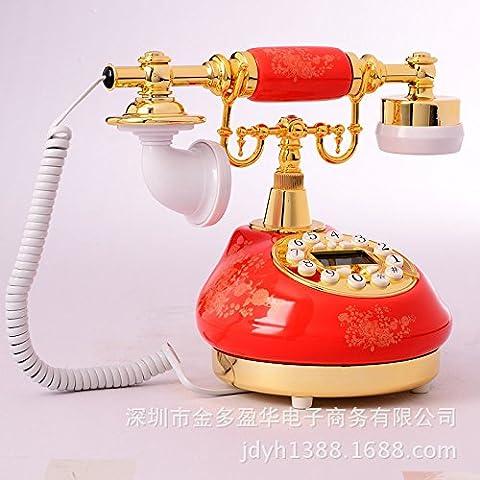 Vintage composizione creativa Telefono da tavolo per casa e ufficio