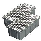 2er Set Solar Pflasterstein 10x20cm LED kaltweiss