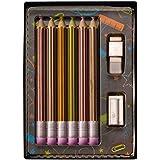 Weibler Confiserie Chocolaterie Set Con Lápices De Dibujo En Chocolate Con Leche - 1 x 40