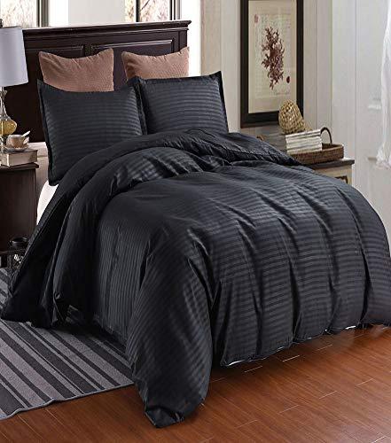 QYZLT Frühling und Sommer heißes Hotel Satin Steppdeckenbezug hochwertige Mode einfarbig Doppel-Bettbezug,Gray,Full (Hotel-bettwäsche-full Set)