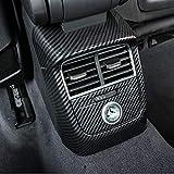 HDCF Auto Hinten Klimaanlage Outlet Rahmen Dekoration 2 stücke Kohlefaser Farbe Für A3 8 V 2014-18 ABS Anti-kick Cover Decals