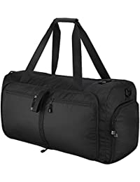 Travel Duffles Bag, OMorc 60L Large Foldable Gym Bag with Removable Shoulder Strap, Sports Bag Overnight Travel Holdall Bag Weekend Travel Bag with Separate Compartment For Luggage Gym Sports
