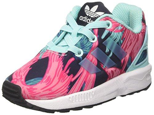 adidas Unisex Baby ZX Flux El I Sneakers, Mehrfarbig (Energy Aqua F17/Energy Aqua F17/Ftwr White), 26 EU