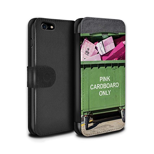 Stuff4 Coque/Etui/Housse Cuir PU Case/Cover pour Apple iPhone 8 / Amendes Stationnement Design / Vers Bas Sous Collection Recyclage Moderne