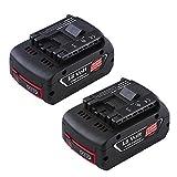 2Packs Boetpcr 18V 5.0Ah Lithium-Ion CoolPack Ersatzbatterie für Bosch BAT609 BAT610G BAT618G BAT620 Akku-Werkzeuge