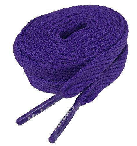Mr Lacy Flatties Lacets plats de lacets de chaussure Violet