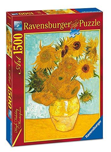 Ravensburger Puzzle 1500 Teile - Vase mit Sonnenblumen - V.Van Gogh (Code 16206)