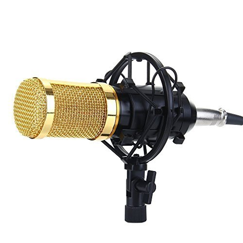 Mikrofon, You King Condenser Sound Recording Mic Shock Mount, für Radio Broadcasting Studio, Recording, Streaming (Pink) - 5