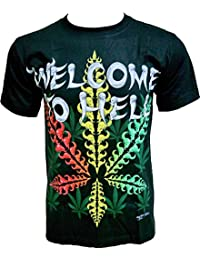Rock Chang T-Shirt * Welcome To Hell * Glow In The Dark * Noir GR502