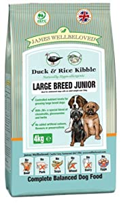 James Wellbeloved Junior Large Breed Duck and Rice Dry Mix 15 kg from James Wellbeloved