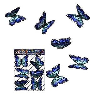 Schmetterling Blau Kleintier Pack Auto Aufkleber - ST00028BL_SML - JAS Aufkleber