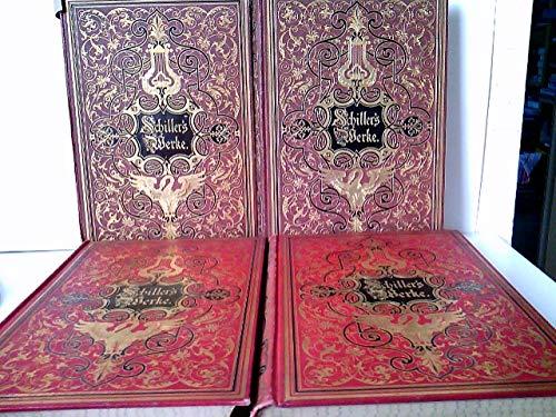Schillers Werke. Illustriert von ersten deutschen Künstlern. Bände 1 bis 4
