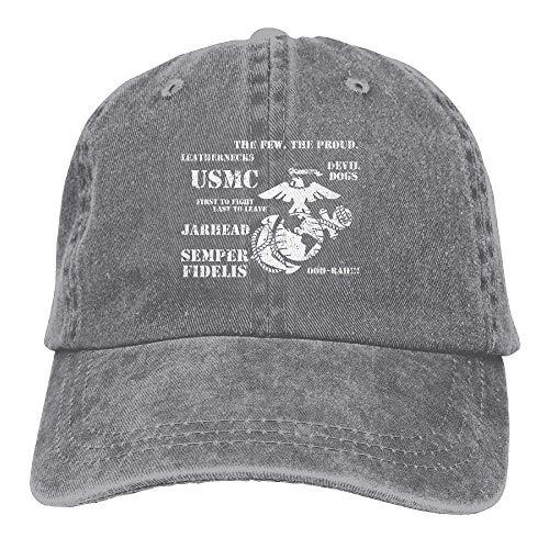UUOnly Semper Fi US Marine Corps Dad Hut einstellbar Denim Classic Baseball Cap (Marine Corp Jersey)
