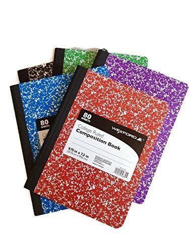 wexford-college-ruled-assorted-colors-composition-book-975-in-x-75-in-5-pack-by-walgreen-co