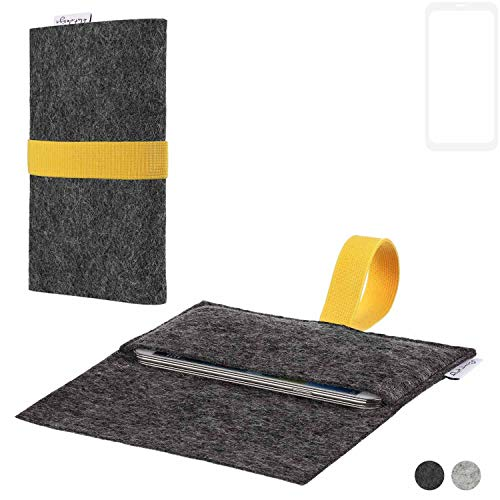 flat.design Handy Hülle Aveiro für Xiaomi Blackshark Helo passgenaue Filz Tasche Case Sleeve Made in Germany