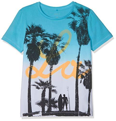 NAME IT Jungen Nkmjarius Ss Top T-Shirt, Mehrfarbig (Bachelor Button), 122/128 (Herstellergröße: 122-128) -