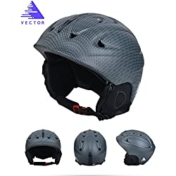 Vector Deportes al aire libre adultos casco de esquí snowboard para esquí ciclismo, color gris, tamaño XL