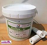Gomma Siliconica per duplicazione pasta + catalizzatore durezza 92 shore Silarock 5kg.