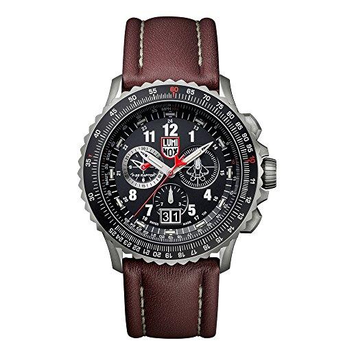 Luminox F-22 RAPTOR XA.9247 Reloj de pulsera Cuarzo Hombre correa de Cuero Marrón