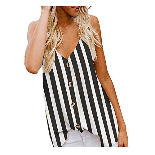 baf3c32382a Débardeur Femmes Sexy,ITISME T-Shirt sans Manches Hauts Femmes Sexy Bouton  Col en