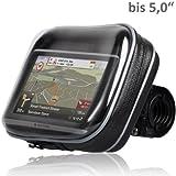 Wicked Chili Biker Bag - Funda impermeable para navegadores GPS Navigon, TomTom, Becker o Falk con pantalla de 5,0' (con fijación para bicicletas o motos, orificio para