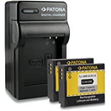 Bundle - 4in1 Caricabatteria + 2x Batteria DMW-BCM13E DMW-BCM13 per Panasonic Lumix DMC-FT5 | DMC-TS5 | DMC-TZ37 | DMC-TZ40 | DMC-TZ41 | DMC-ZS30 e più… [ Li-ion; 1030mah; 3.6V ]