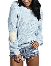 493bca4f5045 Sweatshirt Damen Pullover Pullis Shirt Langarm Löcher Crewneck Sweatshirts  Pulli Langarmshirt Sweater Oberteile Sweat Tops Frauen Coole…