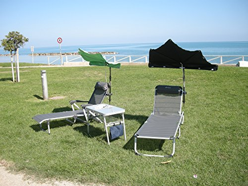 Les terrasses de jardin sET sont loisirs-tERASSENLIEGE jAN kURTZ chaise longue sAMBA 5,4 kG seulement-couleur : gris-argenté-oUTDOOR chaise longue fussteil suspension avec dossier haut-charge maximale : 120 kG-châssis en aLUMINIUM-sTABIELO fächerschirm pistaches holly-vert-holly sunshade ®-système breveté innovation fabriqué en allemagne-disponible également en n et pistache fÄCHERSCHIRME voir fARBTABELLE-tAUPE zANGENBERG hUSUM -