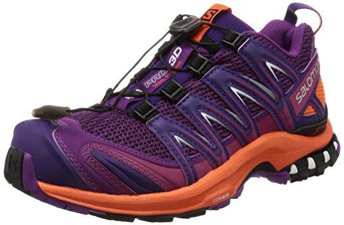 Salomon Xa Pro 3d W, Chaussures de Trail Femme Violet (Grape Juice/flame/acai)