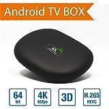 S14Amlogic S905Quad Core Android TV Box 5.1Quad-Core Cortex A5364bits 1G/8G UHD media player apoyo 3d 60fps con mando a distancia y adaptador de alimentación