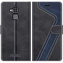 MOBESV Coque pour ASUS Zenfone 3 Max ZC520TL, Housse en Cuir Zenfone 3 Max ZC520TL, Étui Téléphone Zenfone 3 Max ZC520TL Etui Housse pour ASUS Zenfone 3 Max ZC520TL, Noir