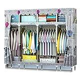 XIAONUA Kleiderschrank-Organisatoren und Lagerung, hängende Kleiderschrankregale, Schranksysteme für Schlafzimmer, feuchtigkeitsfest und Insektenschutz,C_79.9x17.7x66.9inch