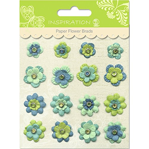 Paper Flower Brads (PAPER FLOWERS BRADS MOTIV 08)