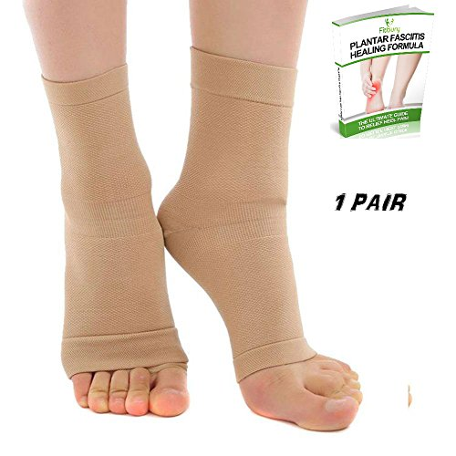 Plantar Fasciitis Socks & FREE eBook – Best Heel Pain Treatment, Plantar Fasciitis Sleeve, Foot Compression Socks For Instant Plantar Fasciitis Pain Relief, Arch Support Socks, Plantar Fascia Socks, Foot Pain Orthotics [Best Running Socks For Plantar Fasciitis] [Compression Foot Sleeve To Ease Pain In Heel of Foot], Eases Swelling & Better Than Plantar Fasciitis Night Splint