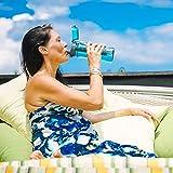 Invigorated Water – pH REVIVE – Trinkflasche mit Wasserfilter für basisches Wasser – mit Transporthülle – Aquablau – 750 ml - 5