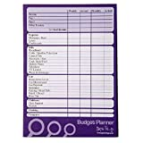 A5 Budget / Finance / Money Planner - 50 sheets per pad - Plan Weekly or Monthly - Double sided - Size 210mm x 148mm