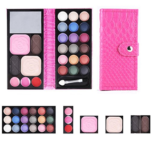 25-colors-makeup-palettetefamore-cosmetic-eyeshadow-blush-lip-gloss-powder-hot-pink