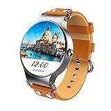 KINGWEAR KW98 1,39 Zoll HD Bluetooth Smartwatch mit 3 Sensor Unterstützung SIM Karte SMS /Anruferanzeige/WIFI/GPS/OS Online-Upgrade und viele Funktion Kompatibel für iOS und Android