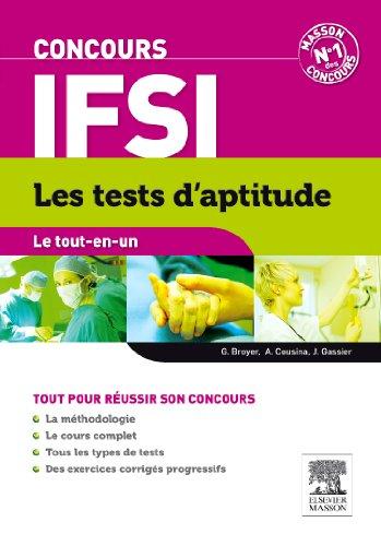 Le tout-en-un Concours IFSI - Les tests d'aptitude