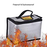 Decdeal Fireproof Explosionproof Lipo Battery Safe Bag Portable Heat Resistant Pouch Sack for Battery Charge & Storage 215 * 115 * 155mm